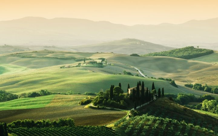 Tuscany landscape - The Proud Italian