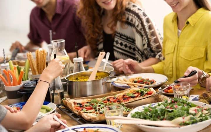 Italian dinner table, the proud italian