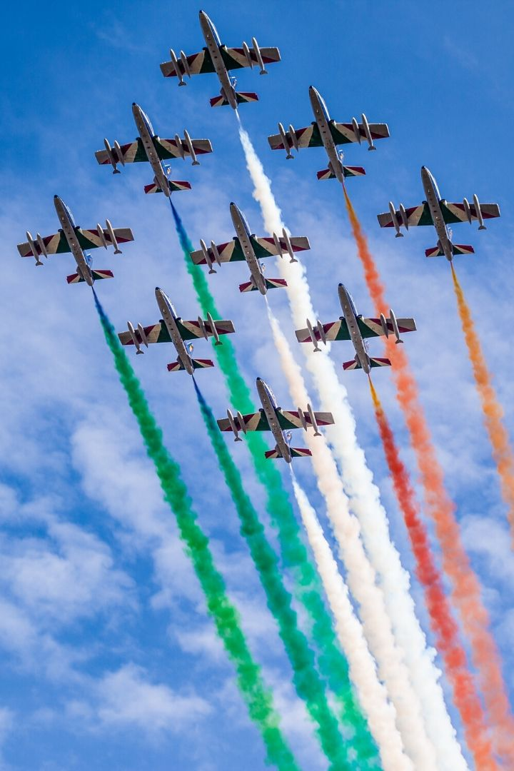 Frecce Tricolori, Italian Air Force acrobatic patrol celebrating Italian Independence day - The Proud Italian