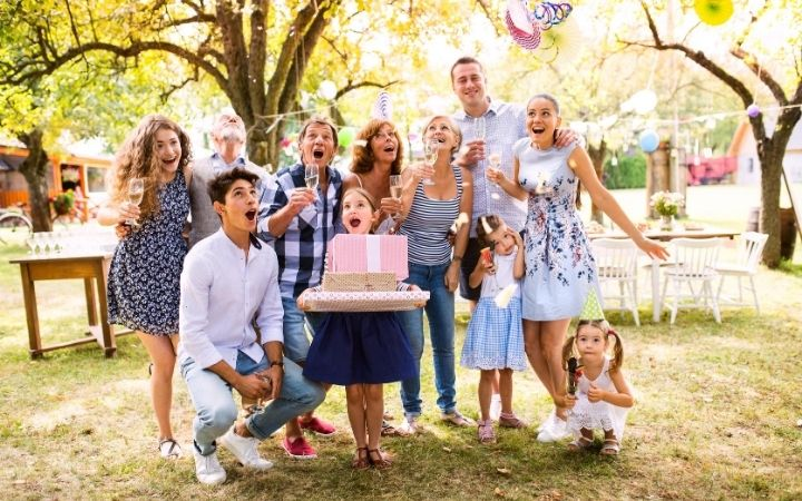 Family celebrating name day - The Proud Italian