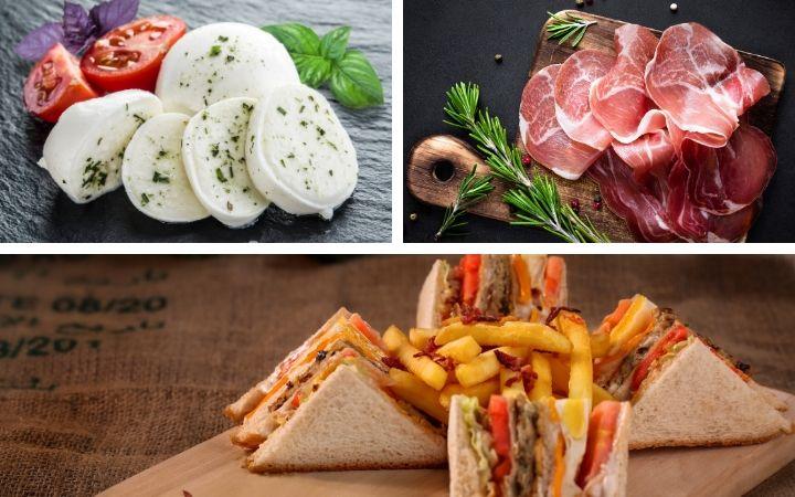 Mozzarella, prosciutto and sandwich - The Proud Italian