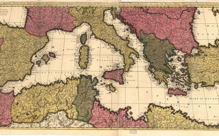 Mediterranean map and finding the origins of Sicilian language - The Proud Italian