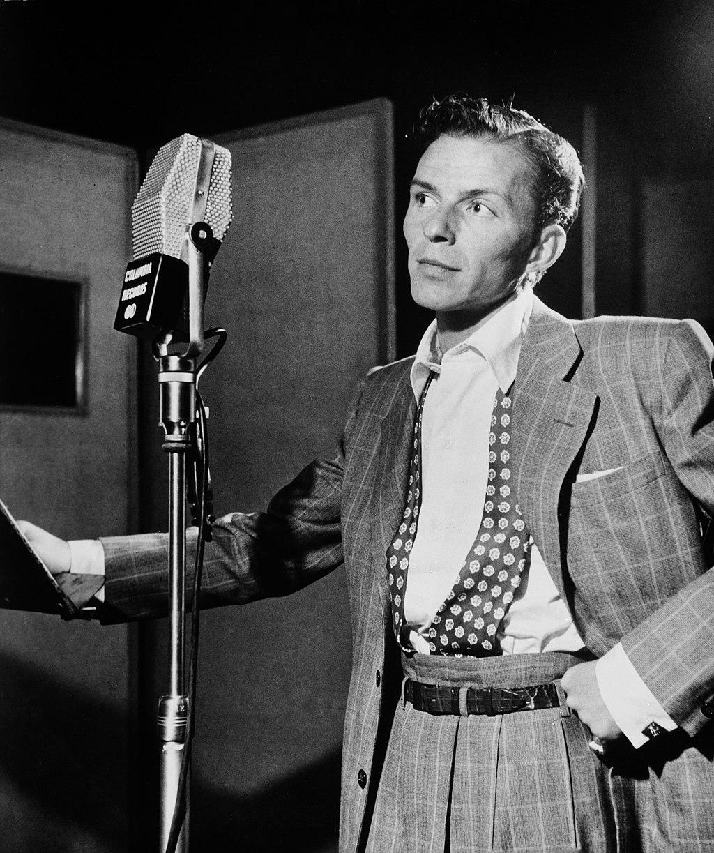 Portrait of Frank Sinatra in Liederkranz Hall, Dominick the Donkey for Christmas - The Proud Italian