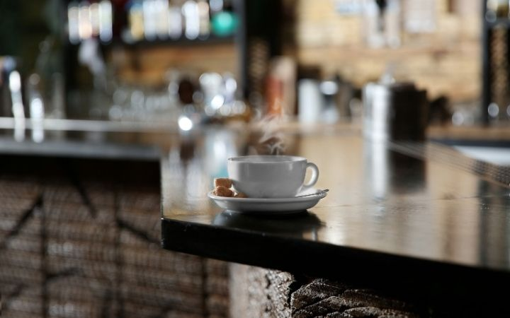 Coffee on the counter at bar, Getting to know the different types of Italian Coffee Drinks - The Proud Italian