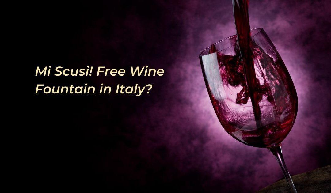 Mi Scusi! Free Wine Fountain in Italy?