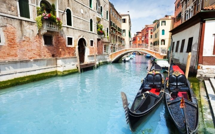 Venetian Gondolas, The Gondola Driver And His Steed - The Proud Italian