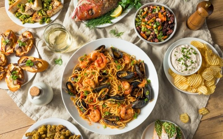 Feast of the Seven Fishes - a Pescatarian's Dream - The Proud Italian