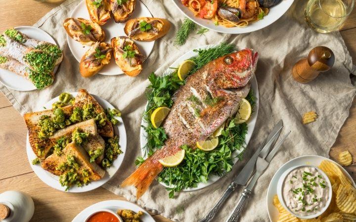 Feast of the Seven Fishes, Feast of the Seven Fishes - a Pescatarian's Dream - The Proud Italian