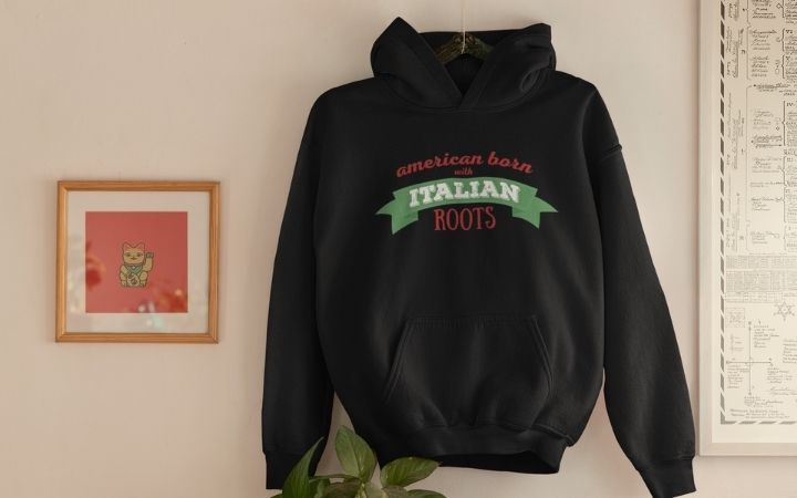 American born with Italian roots Unisex Hoodie - The Proud Italian
