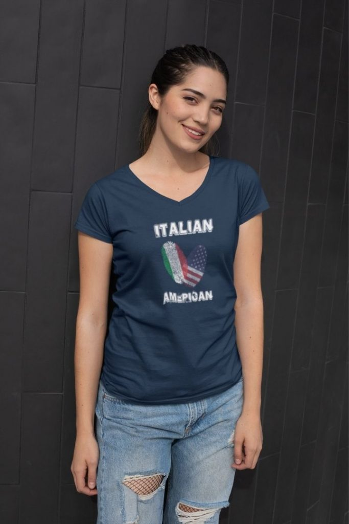 Italian American Women's V-neck T-shirt - The Proud Italian