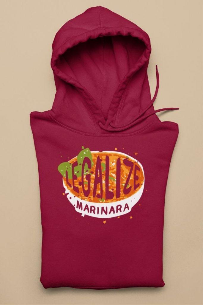 Legalize marinara Italians Unisex Hoodie - The Proud Italian