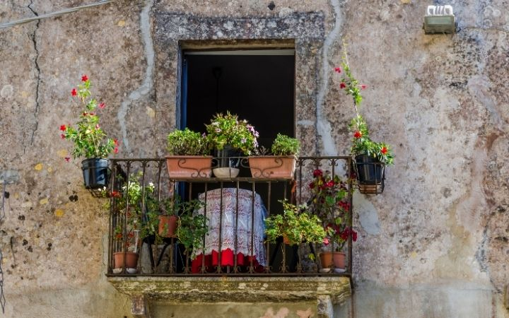 Balcony that depicts Italian folklore style - The Proud Italian