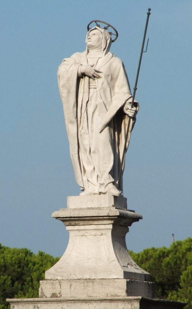 Desenzano (BS) Italy - statue of saint Angela Merici, one of the Italian Saints - The Proud Italian