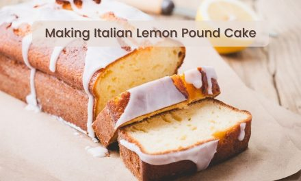 Making Italian Lemon Pound Cake