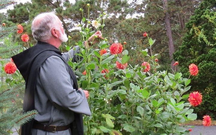 Benedictine Monk in the garden - The Proud Italian
