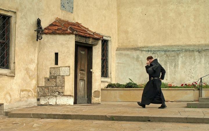 Benedictine Monk walking - The Proud Italian