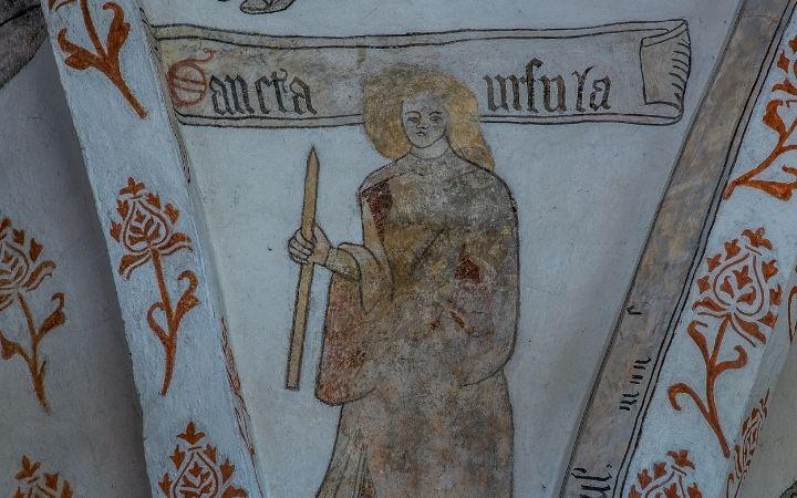 St. Ursula fresco - The Proud Italian