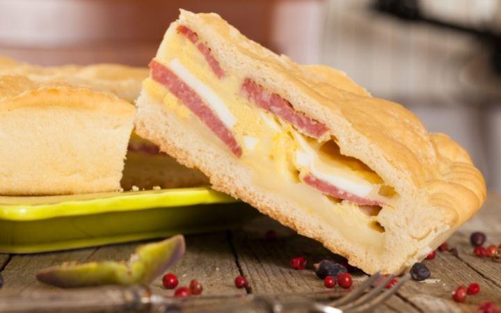 Piece of Italian Easter pie - The Proud Italian