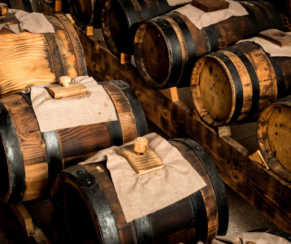 barrels of balsamic vinegar