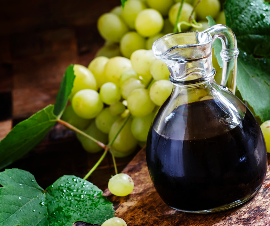 grapes and balsamic vinegar