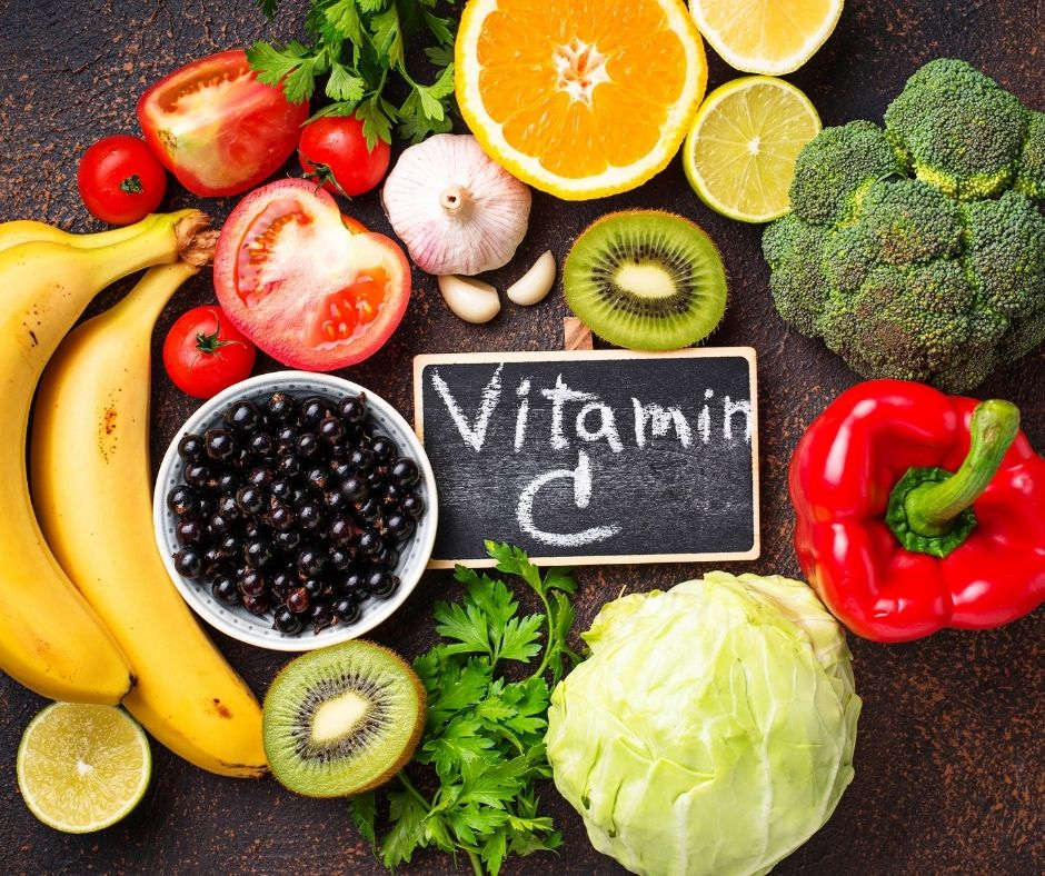fruit and vegetables containing vitamin C