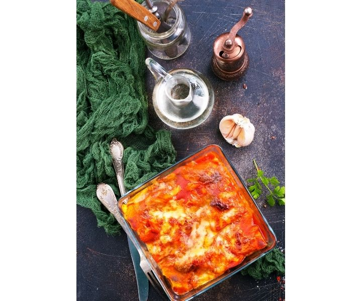 cooked lasagne