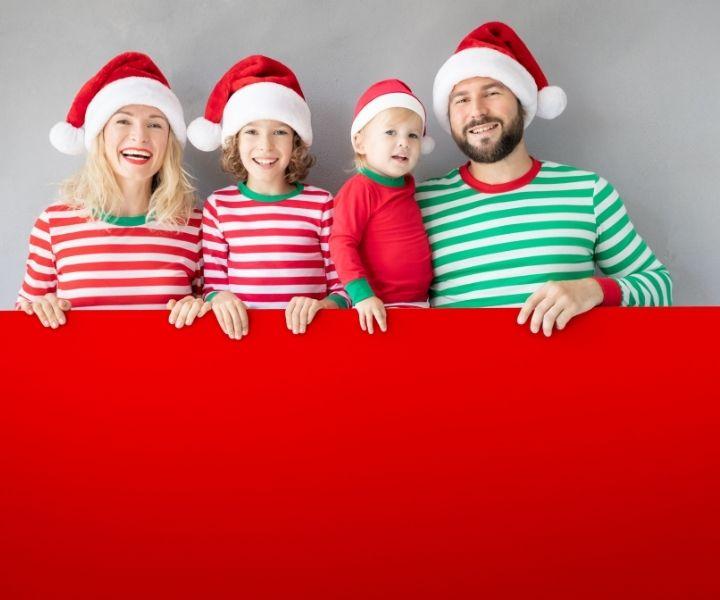 italian christmas family banner