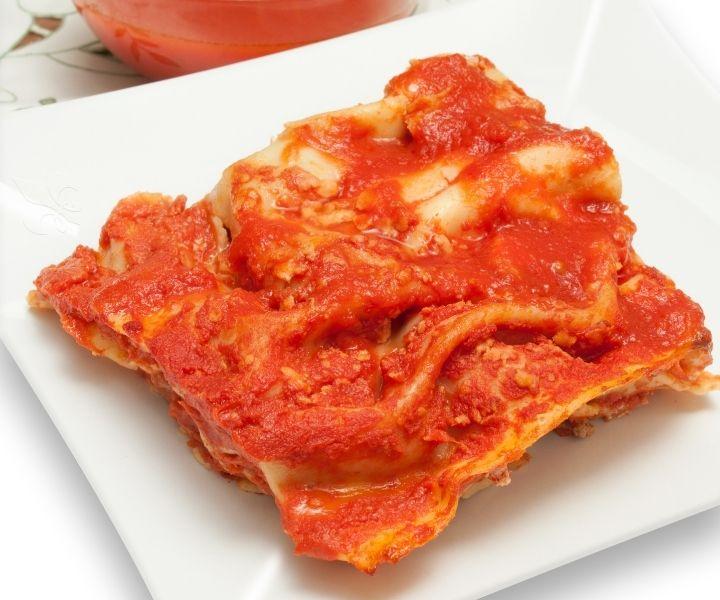 thawing lasagne